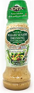 Norita Natural Wasabi Sesame Salad Dressing, Made with Fresh Chopped Wasabi From Japan, 5.75 Fluid Ounces