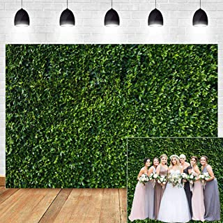 Fanghui 9x6FT Natural Green Leaves Grass Wall Backdrop for Photography Spring Summer Wedding Birthday Party Banner Supplies Outdoorsy Theme Photo Studio Booth Props.