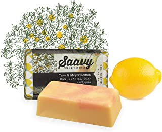 Yuzu & Meyer Lemon Soap Bar   All-Natural Handmade Body Wash Bar   2 Pack 5oz