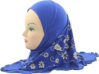رداء الأميرة الإسلامي العملي للأطفال حجاب إسلامية الفتيات جاهز للارتداء وشاح لأعمار 2-6 سنوات