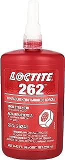 Loctite 135375 Red 262 High Strength Thread Locker, 300 degrees F Maximum Temperature, 250 mL Bottle