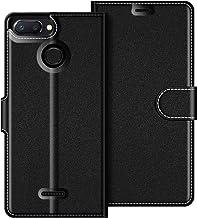 COODIO Custodia in Pelle Xiaomi Redmi 6, Custodia Xiaomi Redmi 6A, Custodia Portafoglio Cover Porta Carte Chiusura Magnetica per Xiaomi Redmi 6 / 6A, Nero