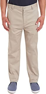 Nautica Young Men's Uniform Flat Front Stretch Twill Pant