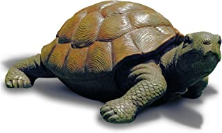 WHW Whole House Worlds Toby Turtle, Ultra-Realistic Outdoor Garden Tortoise Statue, 13 3/8 x 9 3/4 x 5 1/2 inches
