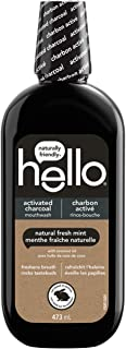Hello Activated Charcoal Mouthwash, Natural Fresh Mint and Coconut Oil, Fluoride Free, Alcohol Free, Vegan, SLS Free and G...