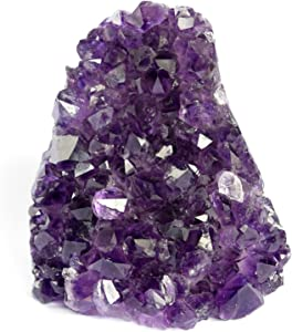 Deep Purple Project Large Amethyst Clusters Quartz Crystal Geode 1 Lb to 1.7 Lb Plus: Premium Gift Box Spiritual Healing Stone (500 gr to 800 gr)