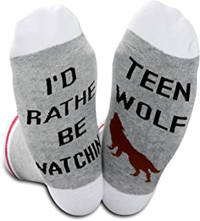 MTV Show Inspired Gifts Manchandise I'd Rather Be Watching TV Show Socks For Fans