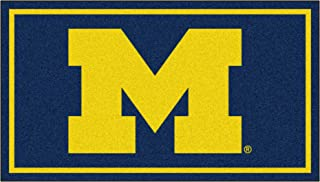 FANMATS NCAA Michigan Wolverines 3 Ft. x 5 Ft. Area RUG3 Ft. x 5 Ft. Area Rug, Navy, 3' x 5' (19776)