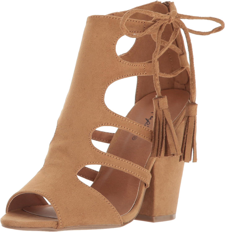 Qupid Women's Sawyer-44 Dress Sandal Taupe