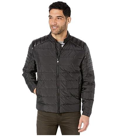 BUGATCHI Pompei Jacket Long Sleeve Full Zip (Black) Men