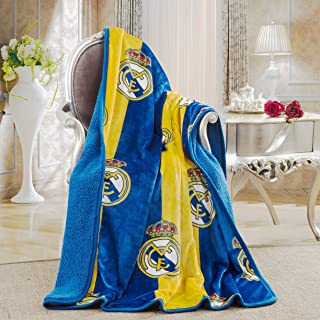 Real Madrid Silk Touch Sherpa Lined Throw Blanket 50x60