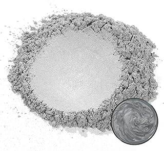 MOSUO Farba z żywicy epoksydowej, metaliczne pigmenty, 50 g, srebrno-szara, połyskująca, brokatowa farba do mydła, zestaw ...