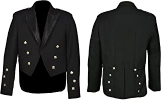 Men's Scottish Black Prince Charlie Kilt Jacket & Vest