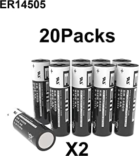 EEMB 3.6V AA Lithium Battery ER14505 2600mAh High Capacity Li-SOCl2 Non Rechargeable UL Certified 3.6Volt Lithium Thionyl Chloride Batteries