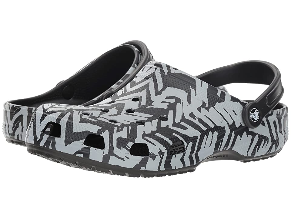 Crocs Classic Graphic II Clog (Light Grey/Black) Clog Shoes