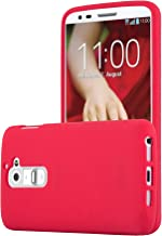 Cadorabo Case Compatible with LG G2 in Frost RED – Shockproof and Scratch Resistant..