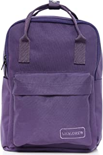 Small Casual Lightweight Mini Travel Backpack Purse with Top Handles Waterproof for Women (Purple)