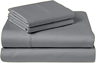 "COZERI 600 Thread Count Luxury Sheet Set, 100% Cotton, Breathable, Soft & Silky Sateen Weave, Fits Mattress Upto 17"" Deep ..."