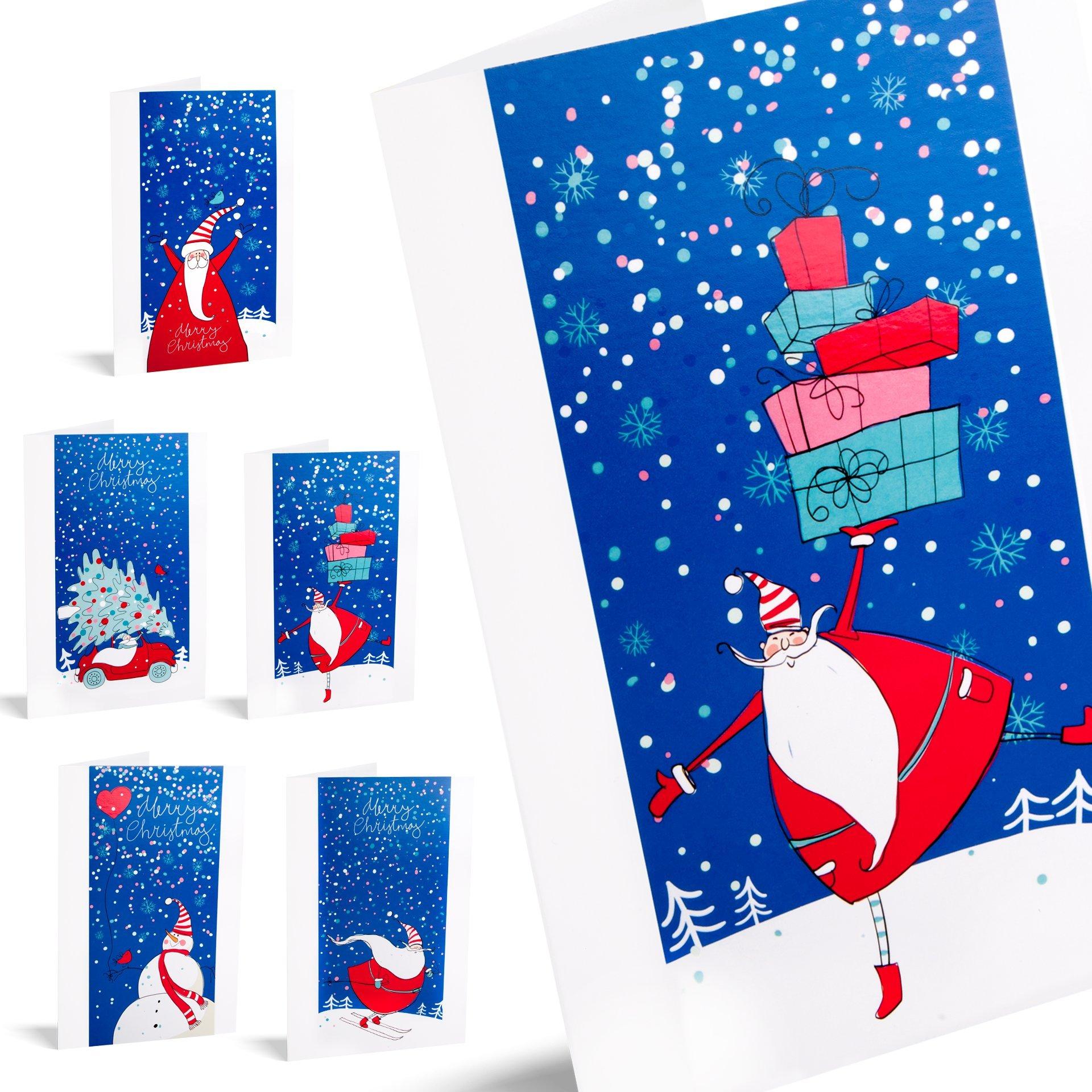Felicitaciones de navidad Santa Stories. Pack De 10 Tarjetas.: Amazon.es: Oficina y papelería
