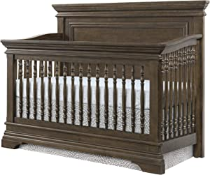 Westwood Design Olivia 4 in 1 Convertible Crib, Brushed Rosewood