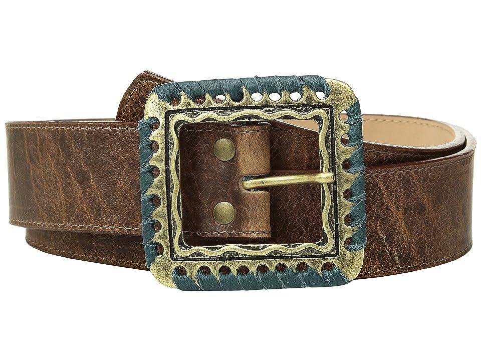 Leatherock Suki Belt (Cognac/Teal) Women