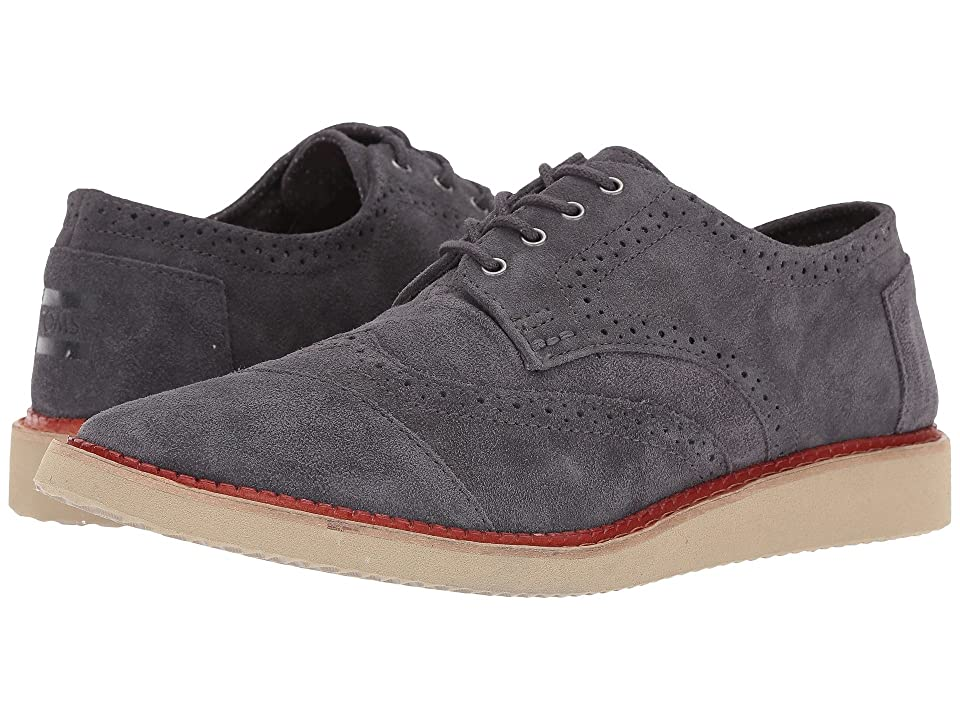 TOMS Brogue (Forged Iron Grey Suede) Men