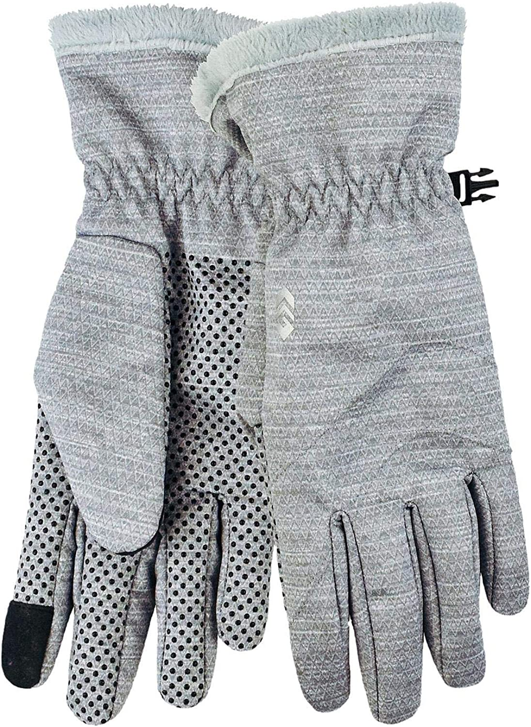 free country Women's Outdoor Softshell Gloves Light Grey Heather