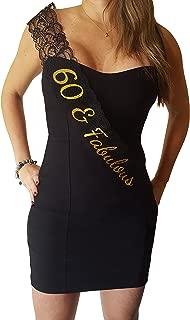 60 & Fabulous Lace Sash - 60th Birthday Sash