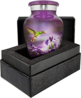 Trupoint Memorials Natures Peace Hummingbird Small Keepsake Urn for Human Ashes - Qnty 1- A Lovely Sharing Token to Rememb...
