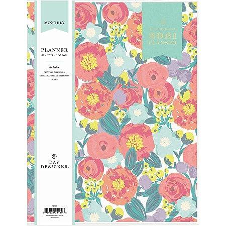 Flexible Cover Stapled Binding, Day Designer For Blue Sky 2021 Monthly Planner