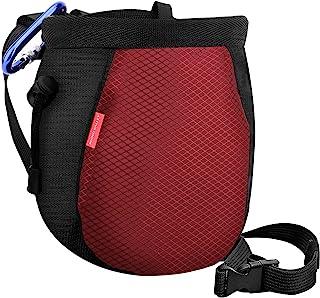 Rhino Valley Chalk Bag,No Leak Rock Climbing Strawstring Bag Drawstring Magnesia Sack with Adjustable Belt Carabiner for G...
