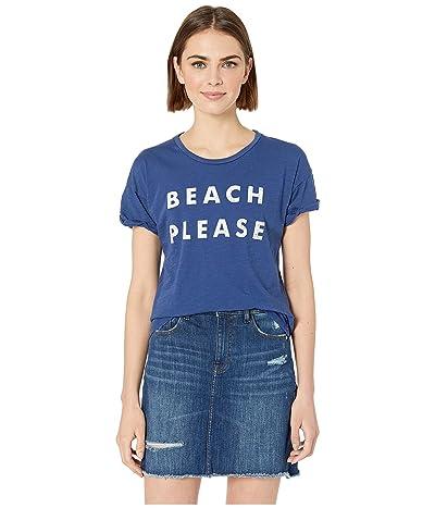 The Original Retro Brand Beach Please Rolled Short Sleeve Slub Tee