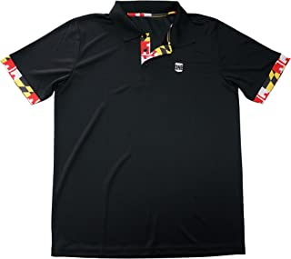 | Maryland Flag Men's Polo in Black
