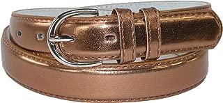 Women's Leather 1 1/8 Inch Metallic Dress Belt