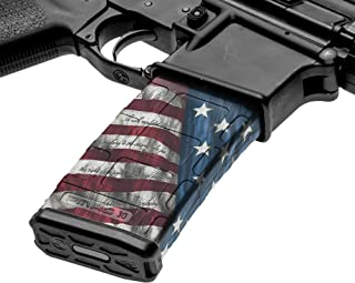 GunSkins AR-15 Mag Skin - Premium Vinyl Mag Wrap with Precut Pieces - Easy to Install and Fits 30rd Magazines - 100% Waterproof Non-Reflective Matte Finish - Made in USA