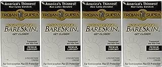 Trojan Supra Lubricated Premium Condoms MicroSheer Polyurethane Ultra-Thin