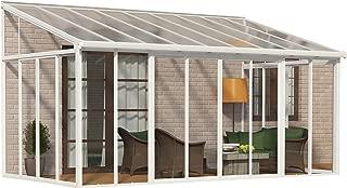 Palram SanRemo Patio Enclosure, 18'L x 10'W x 7'H, White