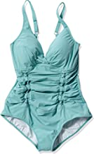 Profile by Gottex Women's Solid Twist Front V-Neck One Piece Swimsuit