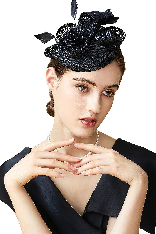 BABEYOND Fascinator Hat for Women Tea Party Kentucky Derby Fasci