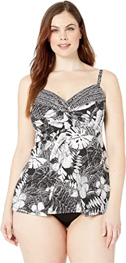 Plus Size Castaway Love Knot Tankini Top