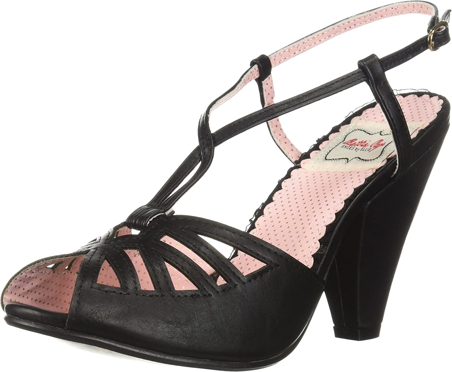 Bettie Page Womens Bp403-aria Heeled Sandal