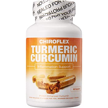 Chiroflex Turmeric Curcumin Supplement - Anti Inflammatory Support - Bioperine Free - Joint Pain Relief, Joint Supplements for Men and Women - Fast Acting Relief Factor - 60 Count Capsules