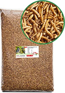 Paul´s Mühle Mehlwürmer getrocknet, Proteinreiche Würmer für Hühner, Igel, Hamster, Teichfische und Vögel, 1 kg