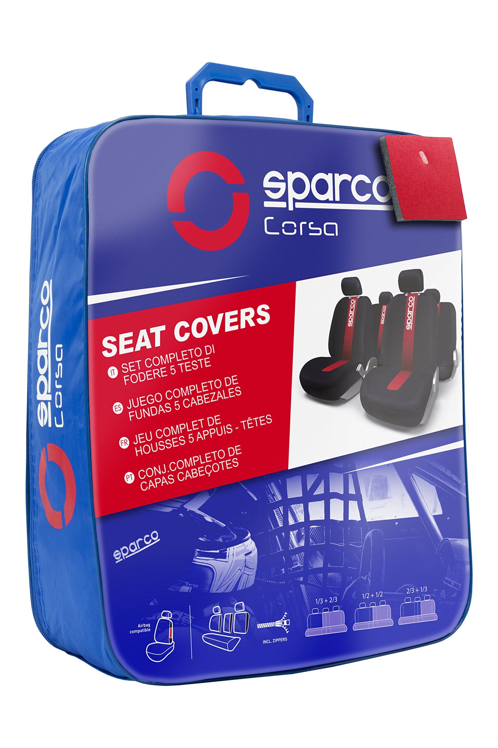 11 Piezas Sparco SPC101 Juego de fundas para asientos de coche modelo CLASSIC