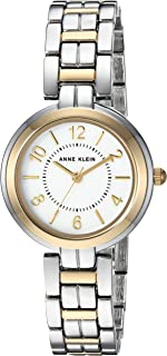 Anne Klein Women's Polished Two-Tone Slim Bracelet Watch