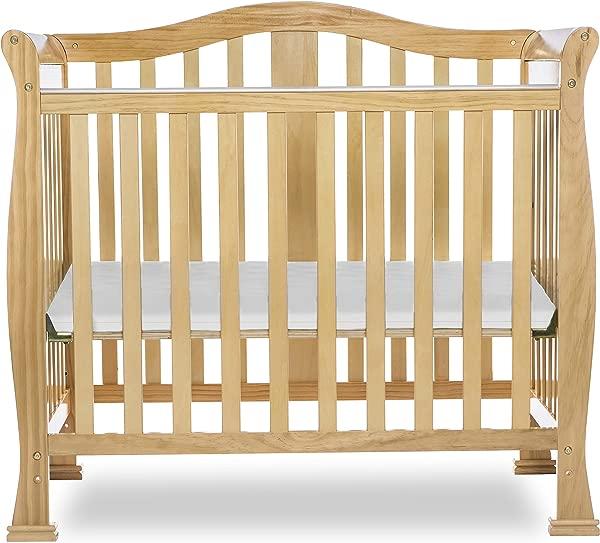 Dream On Me Addison 4 In 1 Convertible Mini Crib Natural