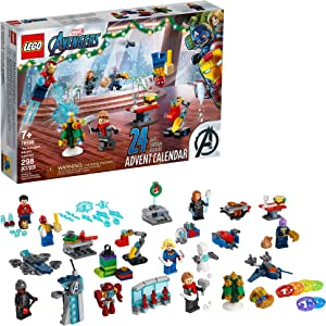 LEGO Marvel The Avengers Advent Calendar 76196 Building Kit, an Awesome Gift for Fans of Super Hero Building Toys; New 2021 (298 Pieces)