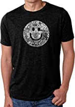 LA Pop Art Men's Premium Blend Word Art T-Shirt - Smile in Different Languages