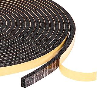 "Foam Seal Tape 1/4"" W X 1/8"" T, High Density Rubber Foam Weather Strip Seal for Window and Door, 50 Ft Length (3 Rolls of ..."