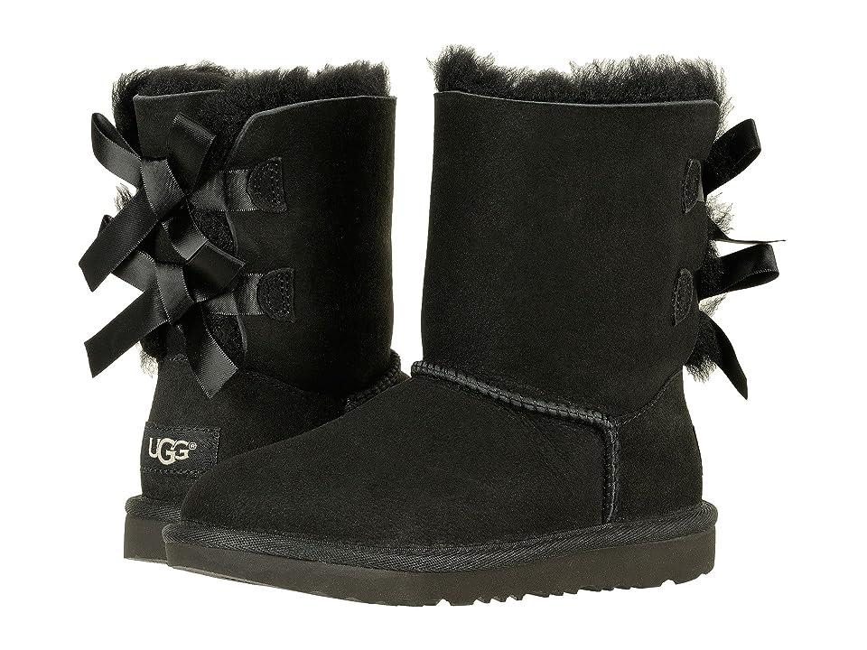 UGG Kids Bailey Bow II (Little Kid/Big Kid) (Black) Girls Shoes